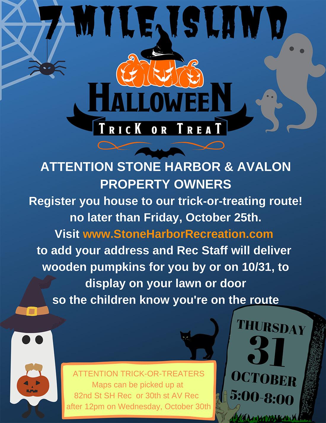 7 Mile Island Halloween House Registration