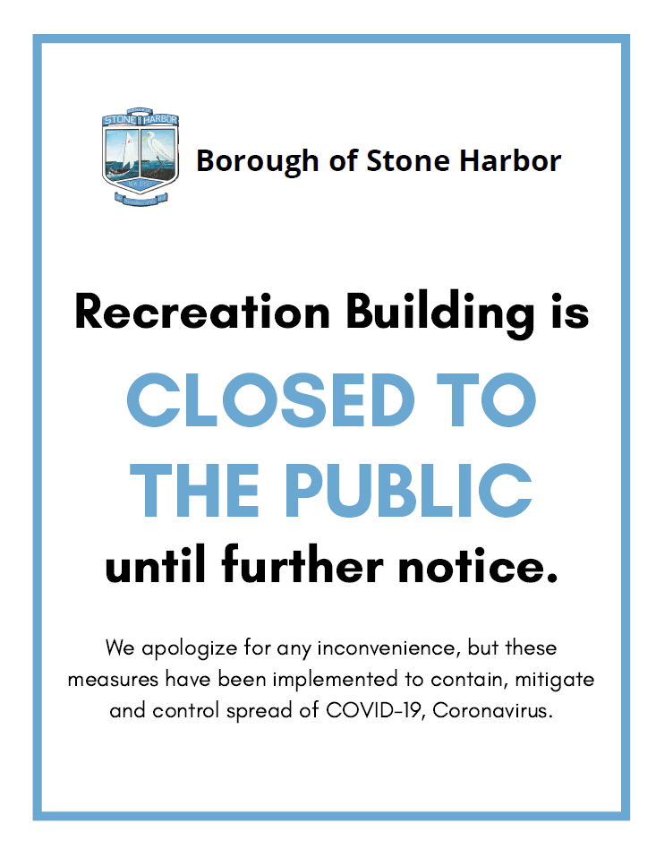 Recreation Office Closed